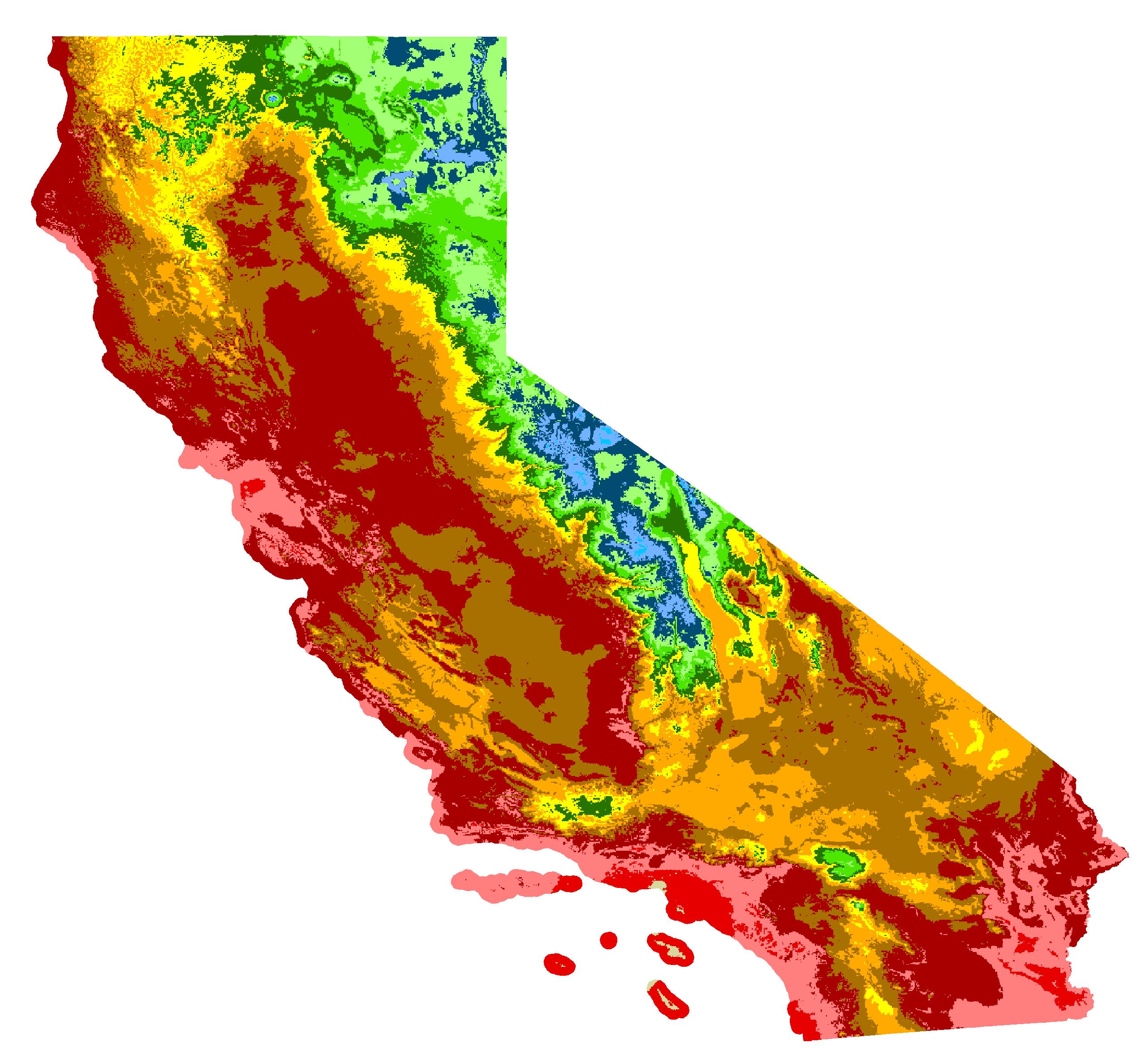 Mendocino County, California Hardiness Zones