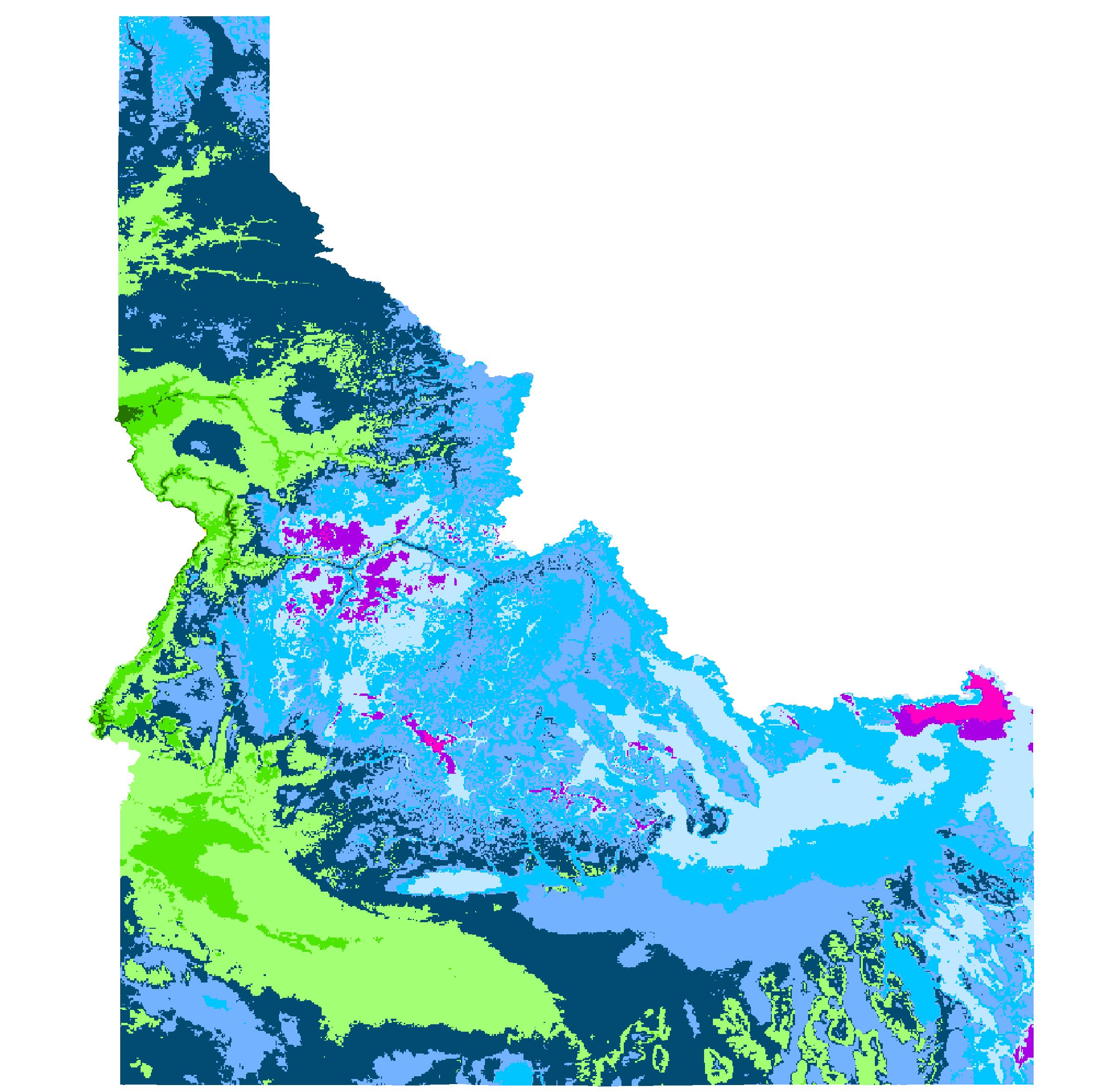 Spirit Lake, Idaho Hardiness Zones