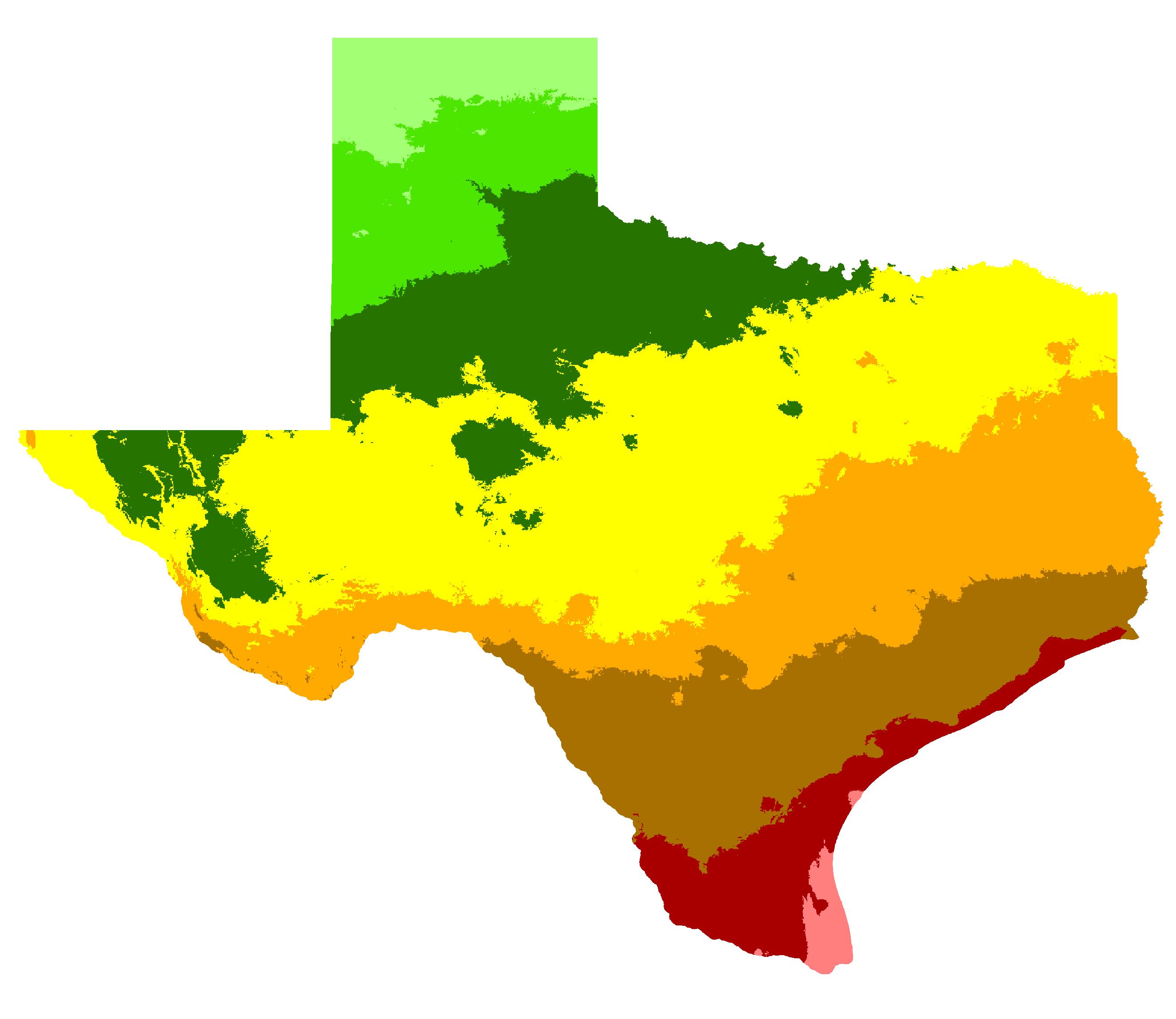 Awesome Austin, Texas Hardiness Zone Map